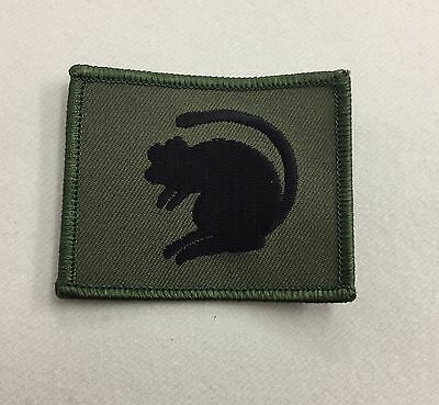 4th Armoured Brigade Badge, Green Rat, Army MTP Patch, Military, Hook & Loop