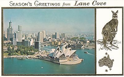 Stamps 1974 Christmas Seasons Greetings Lane Cove Sydney card first day issue