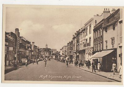 High Wycombe High Street Vintage Postcard 459a