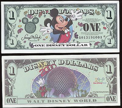 "One 2000 ""AA"" Series Micky Mouse Millennium Edition Disney Dollar Dollars $1"