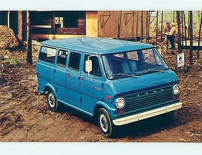 Unused 1970 car dealer ad postcard FORD ECONOLINE VAN o8452-22