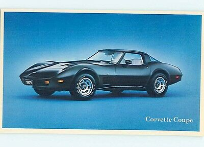 Unused 1979 car dealer ad postcard CHEVROLET CORVETTE COUPE o8365