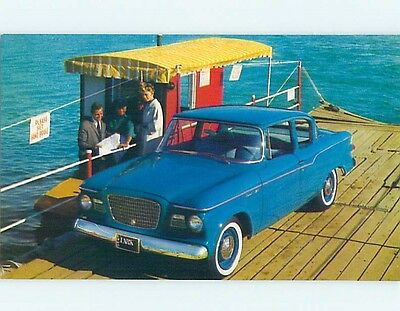 Unused 1960's car dealer ad postcard NASH LARK DELUXE 2 DOOR SEDAN o8399-22