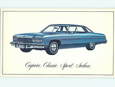 Unused 1976 car dealer ad postcard CHEVROLET CAPRICE CLASSIC SPORT SEDAN o8150