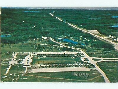 Pre-1980 AERIAL VIEW OF TOWN Dunseith North Dakota ND n2987