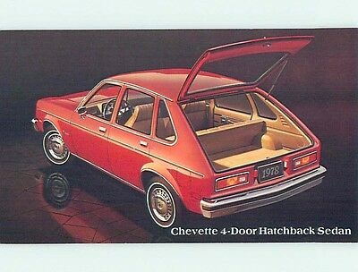 Unused 1978 car dealer ad postcard CHEVROLET CHEVETTE 4 DOOR HATCHBACK o8200-13