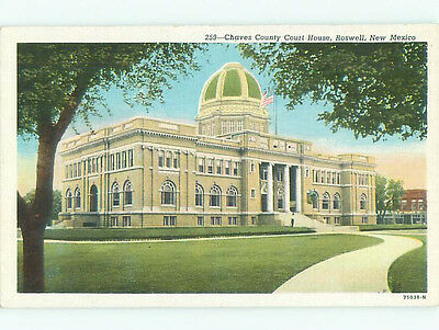 Unused Linen COURT HOUSE Roswell New Mexico NM n4474