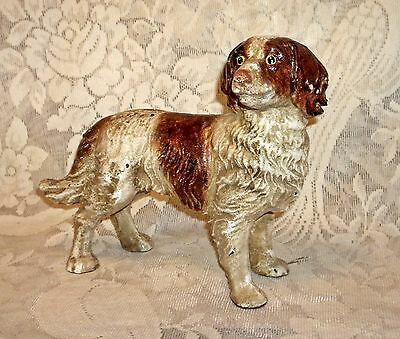 STANDING BRITTANY SPANIEL DOG STATUE ~ Heavy Cast Iron Doorstop ~