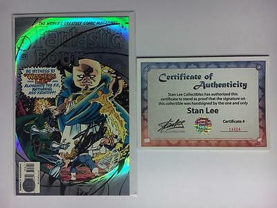 Fantastic Four #398 Signed By Stan Lee W/coa Foil Cover Watcher Ff 48 13