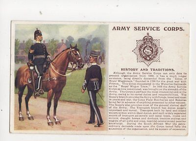 Army Service Corps History And Traditions Vintage Military Postcard 133b