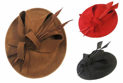 New Ladies Retro 1940s 50s Hollywood Glamour Retro Pin-up Saucer Tilt Hat Hatina