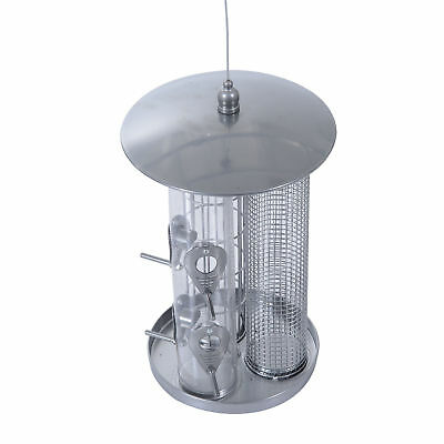 Metal Hanging Bird Feeder Garden Outdoor Wild Squirrel Proof Seed Feeder Supply