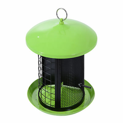 PawHut Hanging Bird Feeder Garden Outdoor Wild Squirrel Proof Seed Feeder Supply