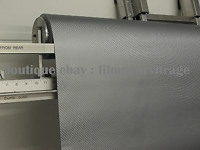 covering carbone 3D GRIS - thermoformable (25 cm x 1,52m) colle :bubble free