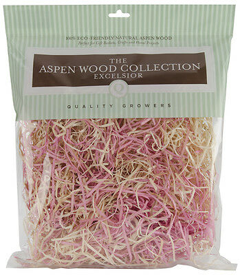 """""""Aspenwood Excelsior 328 Cubic Inches-Pink & Natural, Set Of 3"""""""