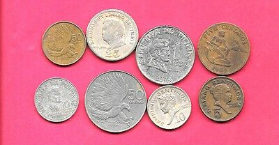 Philippines 8 Diff Different 1964-2004 Coin Lot Collection Set Inc Large & Old
