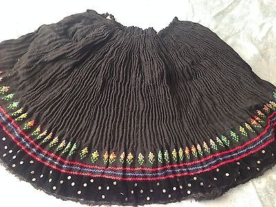 Beautiful Vintage Hand-Woven And Hand-Embroidered Folk Skirt