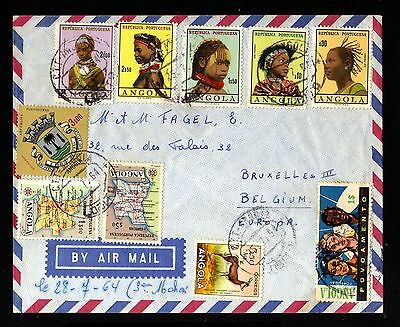 14957-ANGOLA-AIRMAIL COVER LOBITO to BELGIUM.1964.AEREO.Portugal colonies