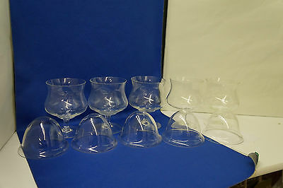 Vintage Shrimp Cocktail Gobets and Glass Inserts Lot of 5