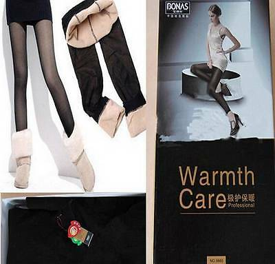 Girls New Thermal Black Fleece Lined Warm Winter Leggings - Fits Ages 9 - 10