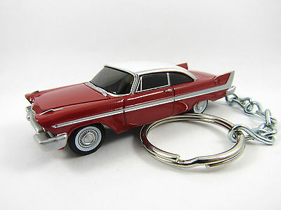 1958 PLYMOUTH FURY Christine Coupe Red Key FOB Keyring Keychain