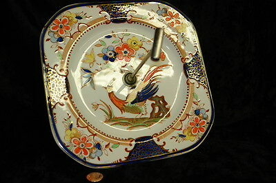 1930's Denbigh Pattern Woods Burslem Cake/Dessert Plate with Handle