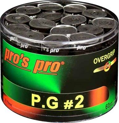 60 x Pros Pro PG1/PG 1-Tacky Overgrip Griffband bunt/mixed gelocht f. Squash usw