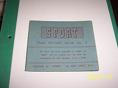 SPORT 1949/50 Teamgroups ( Colour Postcard Size Team Photos ) BOOKLET