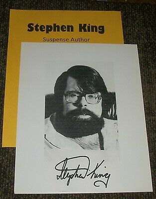 STEPHEN KING Autographed Photo & Photos  /REAL HOT