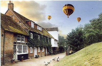 Hot Air Balloons Over Goring On Thames - Postcard View