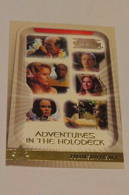 STAR TREK  VOYAGER special card adventures in the holodeck H2