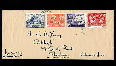 Falkland Islands 1949 U.p.u Complete Set On First Day Cover With Cds Postmarks