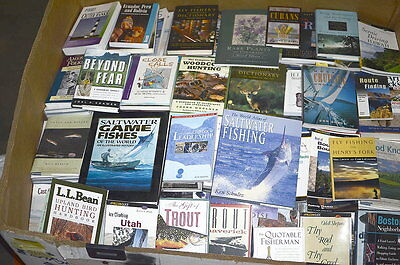 HUGE QTY 600 BOOK LOT / 200 Outdoor Sporting NEW / 400 Fiction Non-Fiction USED