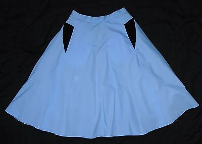 1950s style circular skirt with full net petticoat - size 10/12