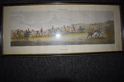 NEWMARKET ENGRAVING c1818 HAND PAINTED  L HADSONE CHEAPSIDE LONDON