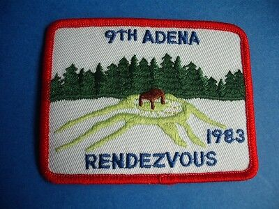 BOY SCOUTS  CANADAPATCH 9th ADENA RENDEZVOUS 1983 VINTAGE BADGE