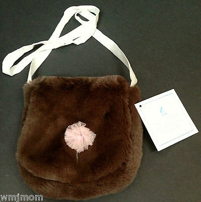 Pottery Barn Kids Faux FUR PURSE Chocolate Valentine Easter Basket GIFT NEW