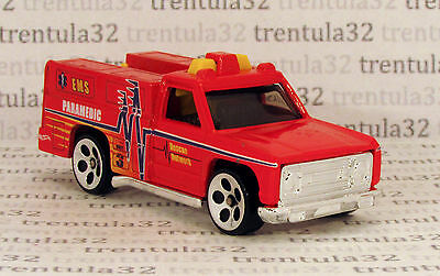 5-Pack Exclusive Thailand Base EMS PARAMEDIC RESCUE RANGER red HOT WHEELS Loose
