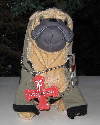 "Sharpei ""nuff Said"" Fuzzy Nation Plush"