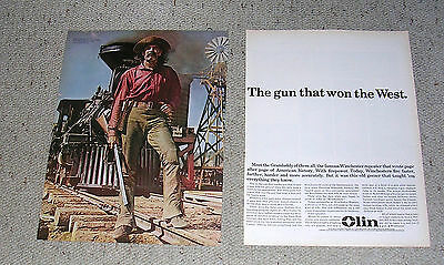 1963 Winchester Rifle Olin How The West Was Won Henry Fonda Magazine Ad.