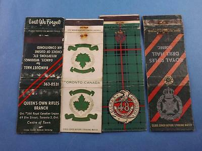 ROYAL RIFLES DRILL HALL QUEBEC QUEENS OWN RIFLES TORONTO 48th MATCHBOOK LOT ARMY