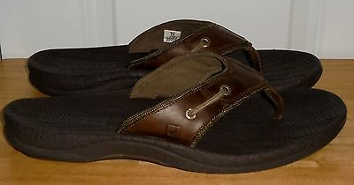 Men's Brown Leather SPERRY Top-Sider Sandals Size 12 GREAT Condition