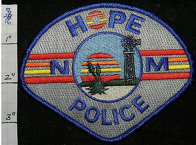 New Mexico, Hope Police Dept Patch
