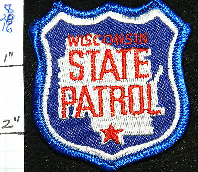 """Wisconsin State Patrol Small Hat 2.5"""" Patch"""
