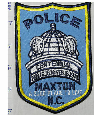 North Carolina, Maxton Police Dept Centennial 1974 Patch