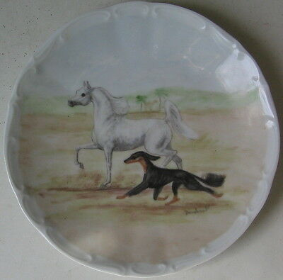Vintage Saluki And Arabian Horse Collectors Limited Edition Plate