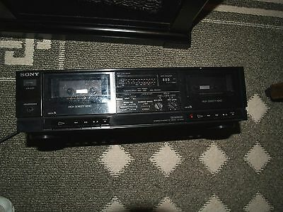 Sony High Density Head 2 Deck Cassette Player/recorder TC-W31