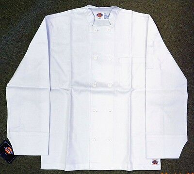 Chef Jacket Dickies CW070305 Restaurant Button Front White Uniform Coat M New