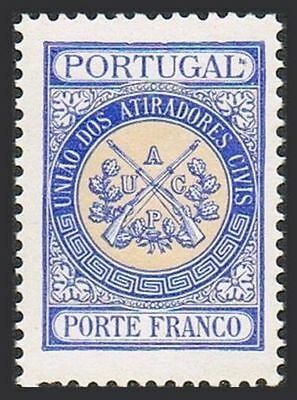 Portugal 2S8,MNH.Michel PFM II 8. Franchise stamps for Civilian Rifle Clubs,1906