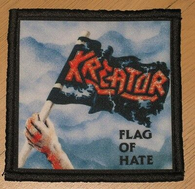 """KREATOR """"FLAG OF HATE"""" silk screen PATCH"""